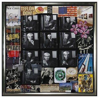 Peter Tunney, 'PETER TUNNEY Large Original Mixed Media Painting Andy Warhol Collage Signed Art', 2016
