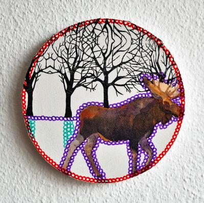 Sabine Kürzel, 'Rehe im Snee', 2015