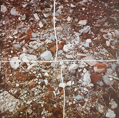 Robert Smithson, 'Torn Photograph from the Second Stop (Rubble). Second Mountain of 6 Stops on a Section', 1970