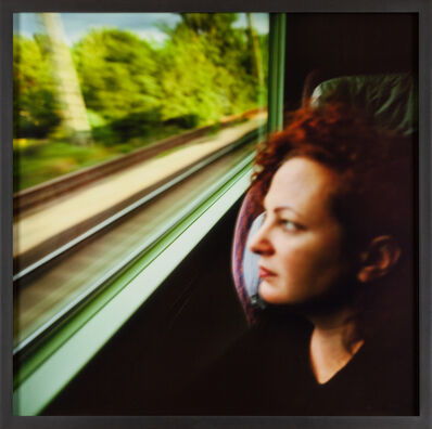 Nan Goldin, 'Self-portrait on the train, Boston - New Haven', 1997