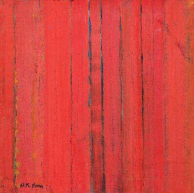 Yun Hyong-keun, 'Red in Blue', 1971