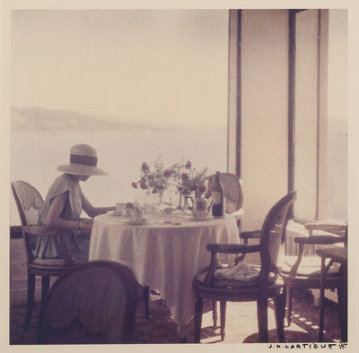 Jacques Henri Lartigue, 'Bibi at the Eden Roc Restaurant, Cap d'Antibes'