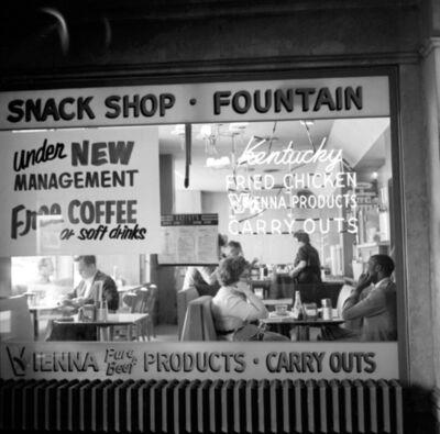 Vivian Maier, 'VM1962W01027 - Chicago, 1962, Snack Shop & Diner', Printed 2017