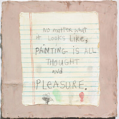 Squeak Carnwath, 'Thought & Pleasure', 2009