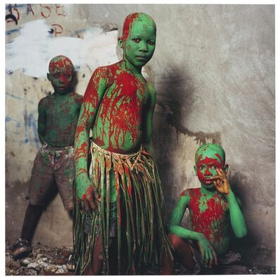 Phyllis Galembo, 'Three Painted Boys, Jacmel, Haiti', 2004