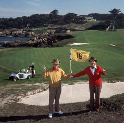 Slim Aarons, 'Golfing Pals, Bing Crosby and Thomas Taylor', 1977