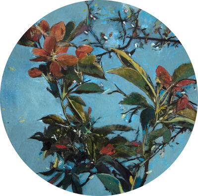 Ayline Olukman, 'Blue Flower', 2017