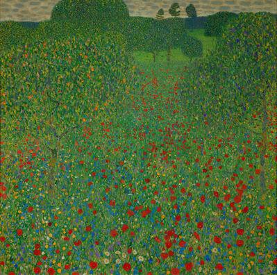 Gustav Klimt, 'A Field of Poppies', 1907