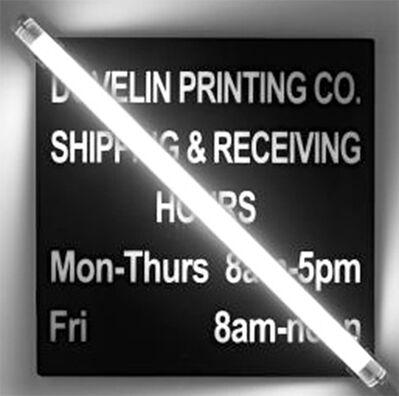 Iván Navarro, 'Dovelin Printing Co', 2008