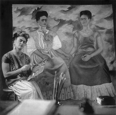 "Nickolas Muray, 'Frida Painting ""The Two Fridas""', 1939"