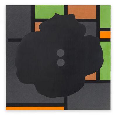 Donald Sultan, 'Button Down Modernism Black June 12 2016', 2015