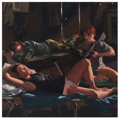 Steve Mumford, 'Female Barracks (study)', 2016