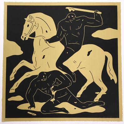 Cleon Peterson, 'Nightcrawler Gold/black', 2015
