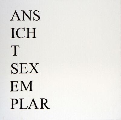 Markus Hofer, 'Ansichtsexemplar', 2014