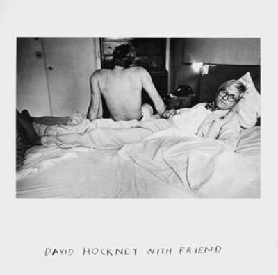Duane Michals, 'David Hockney with Friend ', 1975