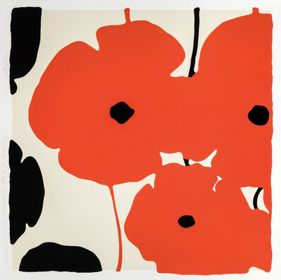 Donald Sultan, 'RED & BLACK POPPIES, FEB 3 2020', 2020