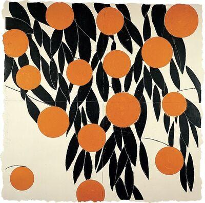 Donald Sultan, 'Fifteen Oranges, 17 September', 1992