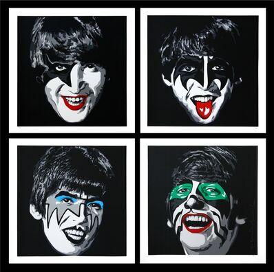 Mr. Brainwash, 'Kiss The Beatles (Matching Print Set)', 2010