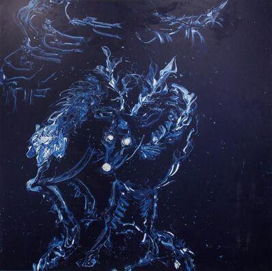 Yangjiang Group, 'Deep Blue White Deer', 2013