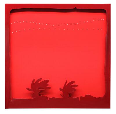 Lucio Fontana, 'Concetto spaziale, Teatrino (Rosso)', 1965