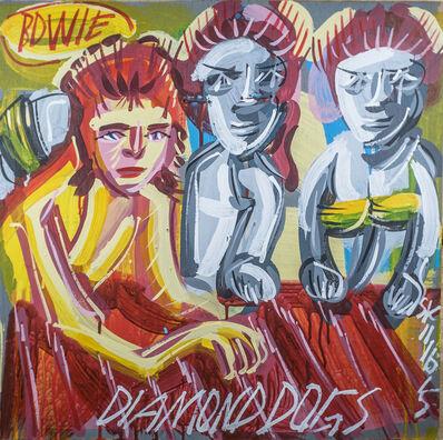 Steve Keene, 'David Bowie - Diamond Dogs', 2015