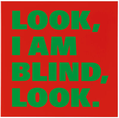 Remy Zaugg, 'LOOK, I AM BLIND, LOOK.', 1998-1999