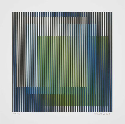 Carlos Cruz-Diez, 'Induction chromatique à double Fréquence 2', 2019