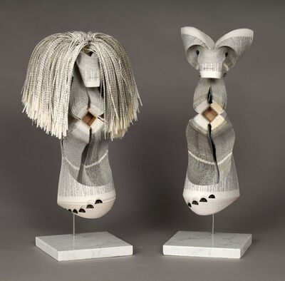 Doug Beube, 'Masked Information (no hair) & Masked Language (with hair)', 2015