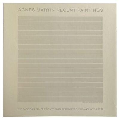 Agnes Martin, 'Agnes Martin Recent Paintings', 1991