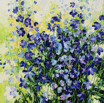 Krista Johnson, 'Delphiniums', 2018