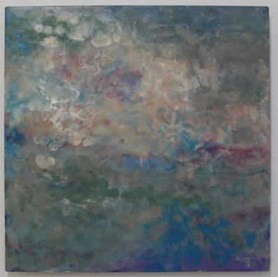 Julia Ross, 'Plastic Oceans Encaustic Painting on Metal', 2019