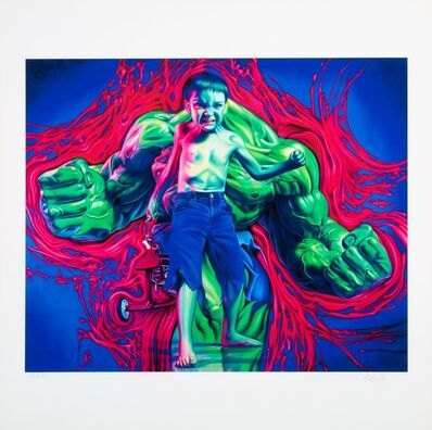 Ron English, 'Hulk Boy and Captain Kid (two works)', 2007