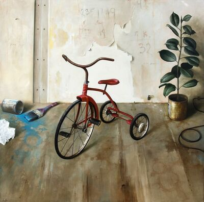 Dmitry Yuzefovich, 'Red Tricycle - Vivid haunting still life', 2020