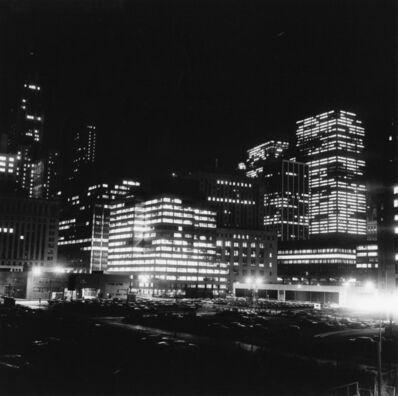 Peter Hujar, 'Night Skyline and Parking Lots', 1976