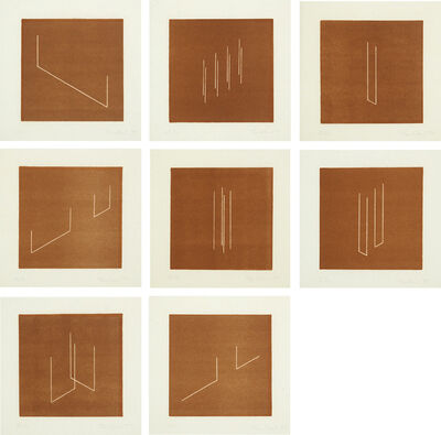 Fred Sandback, 'Mappe mit 10 Umkehrlithographien (Portfolio with 10 Reverse Lithographs): eight plates (J. 62-7, 69-70)', 1977