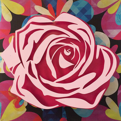 Michael Kalish, 'Pink Rose on Kaleidoscope'