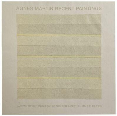 Agnes Martin, 'Agnes Martin Recent Paintings', 1995
