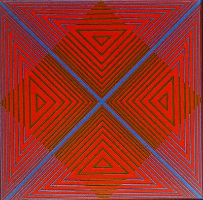 Richard Anuszkiewicz, 'Op Art painting, inscribed to documentary music composer', 1968
