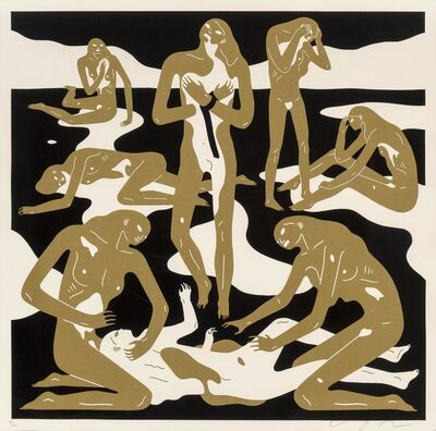 Cleon Peterson, 'Virgins (Gold)', 2017