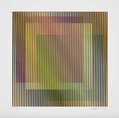 Carlos Cruz-Diez, 'Induction chromatique à double Fréquence 1', 2019