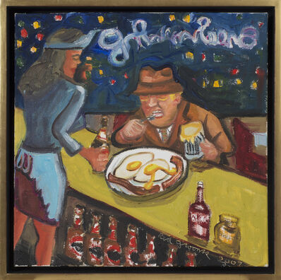 Red Grooms, 'Eggs over Midnight', 2007