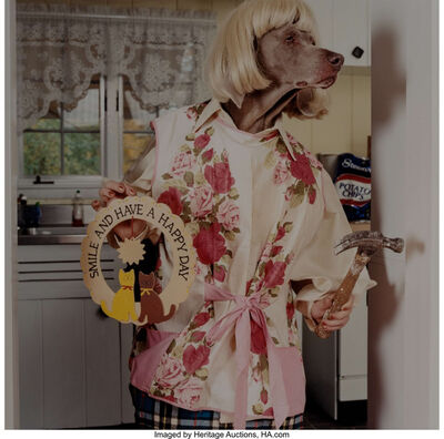 William Wegman, 'Outtake from Chip wants a Dog', 1999