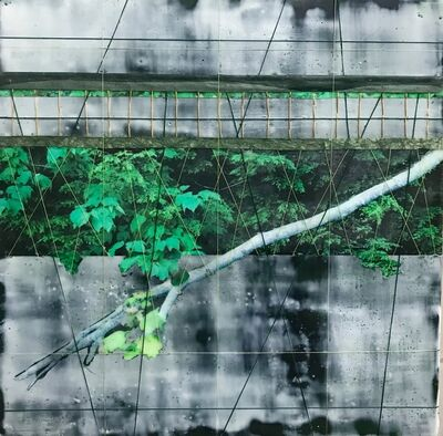 Ava Roth, 'Encaustic Sewing, Verdant Leaves', 2018