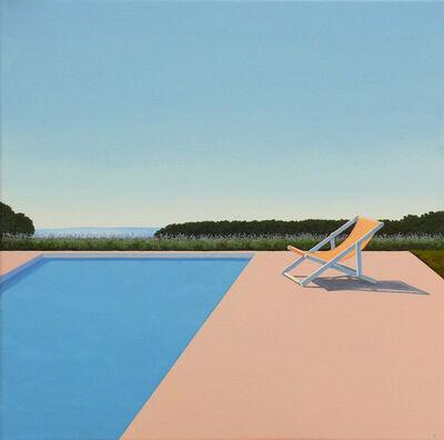 Magdalena Laskowska, 'Scent of Lavender - landscape painting', 2020