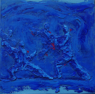 Yu Nancheng, 'Martial Arts II (Blue)', 2016
