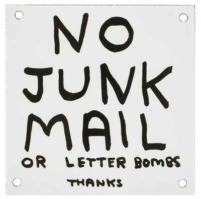 David Shrigley, 'No Junk Mail', 2014
