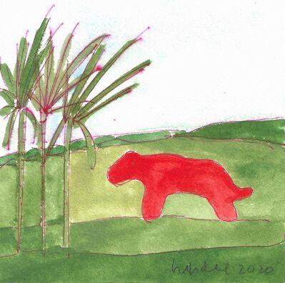 Elizabeth Enders, 'Bobcat and Trees', 2020