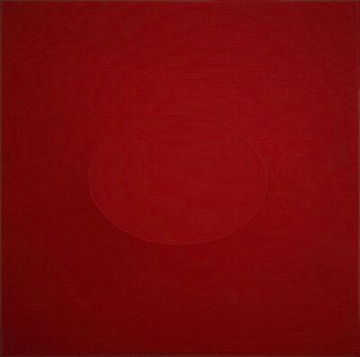 Turi Simeti, 'Un ovale rosso (A red oval)', 2014