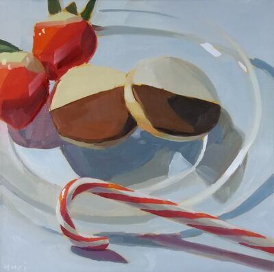 Yuri Tayshete, 'Half moon cookies and a candy cane', 2020