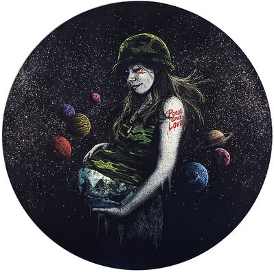 roamcouch, ''Mother Earth' HPM on Wood', 2020